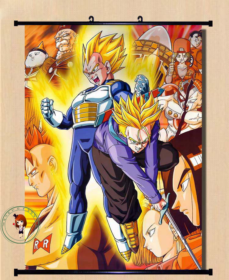 Anime dragon ball goku gohan vegeta home decor poster wall for Decoration murale dragon ball
