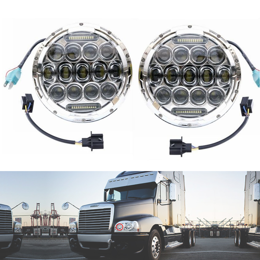 Freightliner Fld Projector Headlights : Chrome freightliner century light projector led