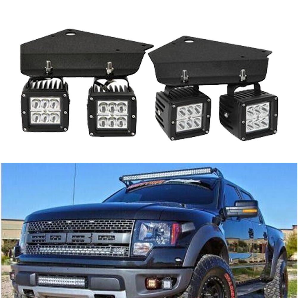 Fog Light Kit Led 3x3 Spot Pods Cube Ford F150 Svt Raptor