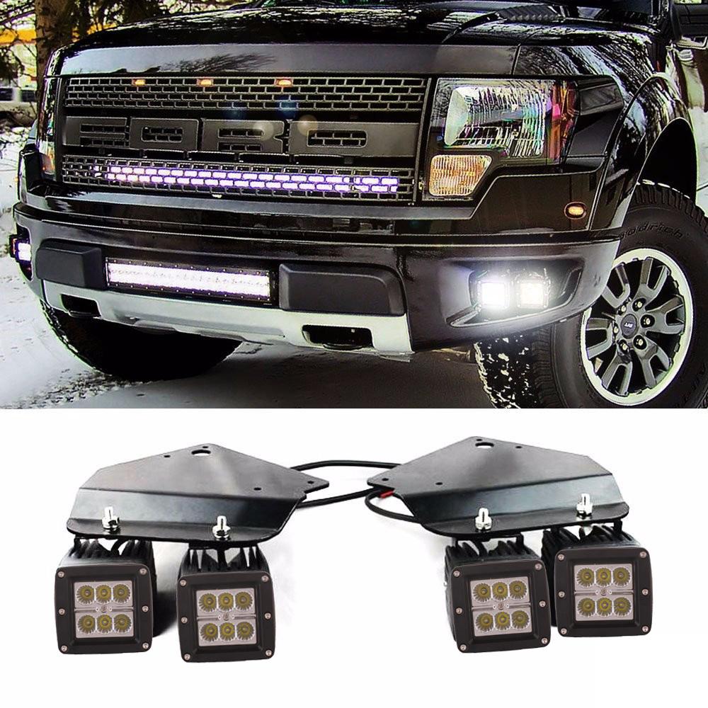 Ford F150 Svt Raptor Truck 2010 2014 Fog Light Kit Led 3x3