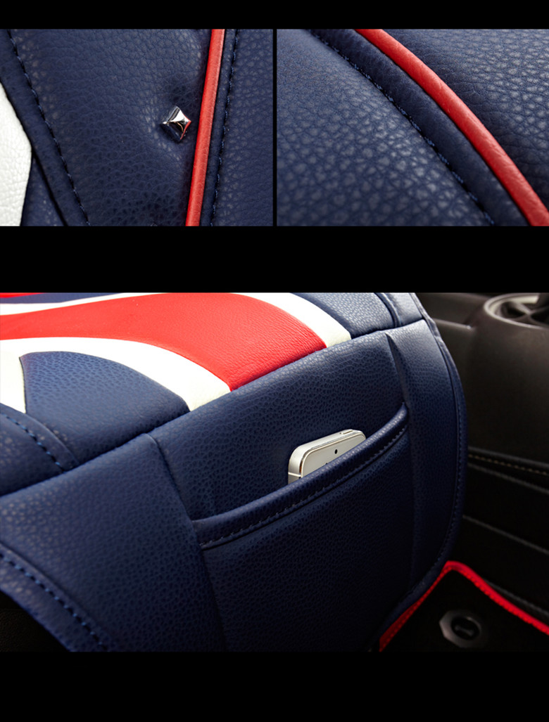 luxury uk flag car seat covers full pu leather for mini cooper r60 r61 ebay. Black Bedroom Furniture Sets. Home Design Ideas