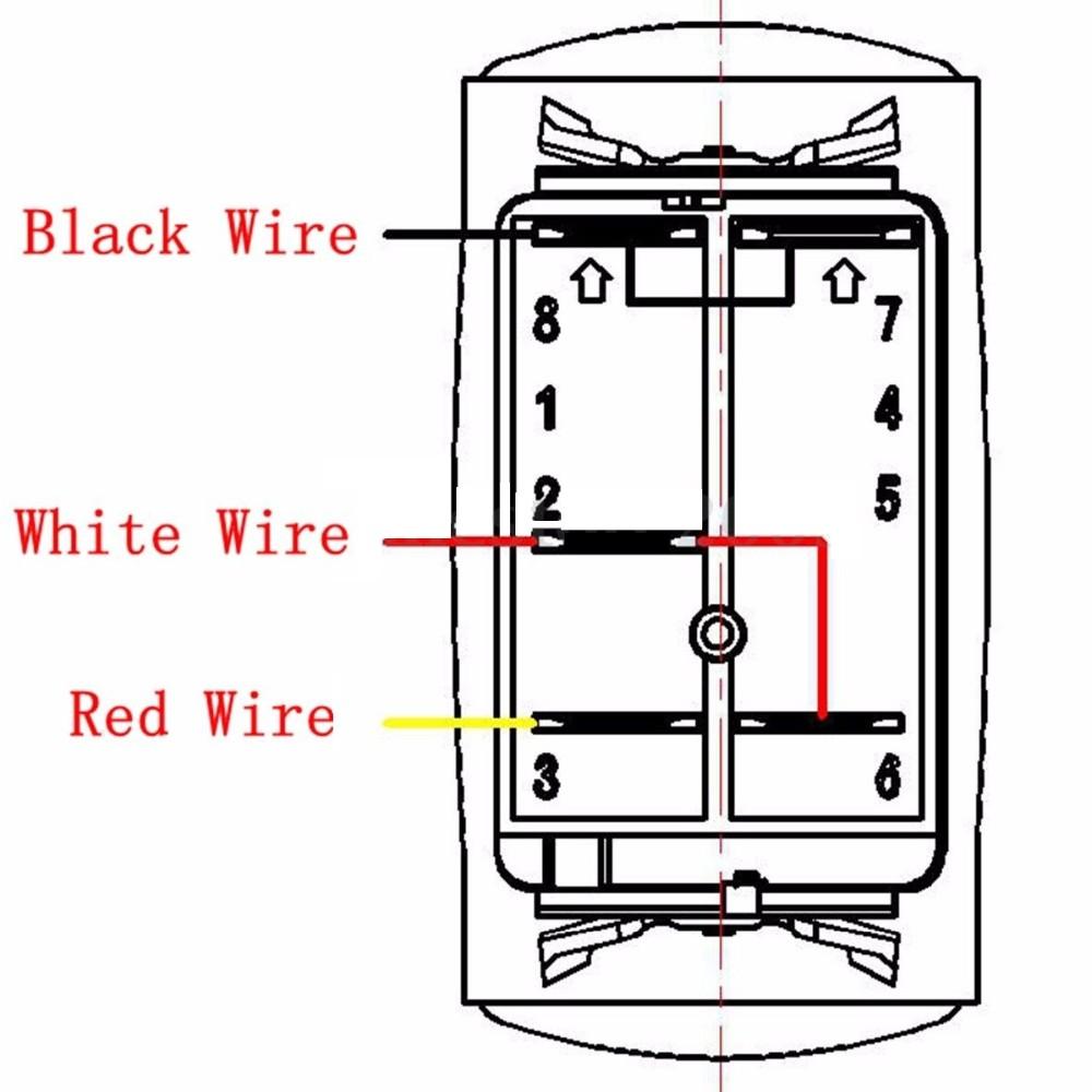 car driving light 5 pin blue led rocker switch 40a relay. Black Bedroom Furniture Sets. Home Design Ideas