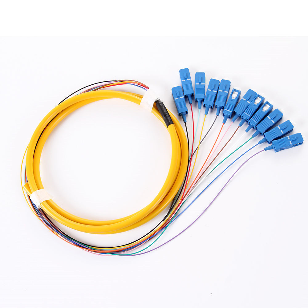 Single Mode Cable : M core sc pigtail fiber optic single mode free