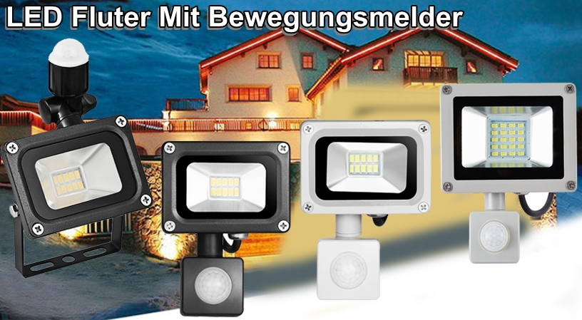 led fluter 10w 20w strahler bewegungsmelder flutlicht scheinwerfer warmwei wei ebay. Black Bedroom Furniture Sets. Home Design Ideas
