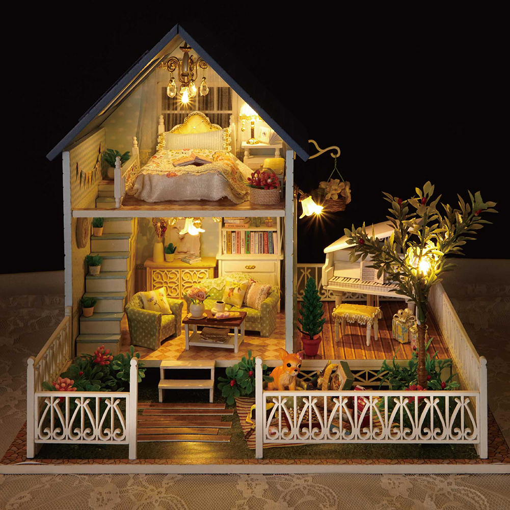 Diy Wooden Dolls House Barbie Vintage Doll House Victorian Dollhouse Furniture Ebay