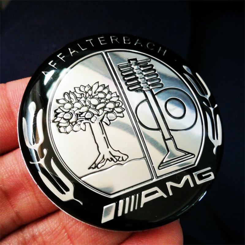 Black appletree amg steering wheel badge emblem for Mercedes benz badge