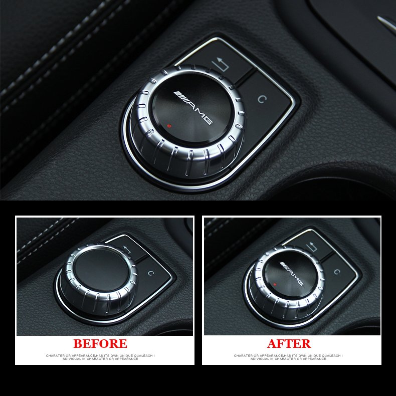 Multimedia control badge decal size adhesive amg for Mercedes benz window sticker