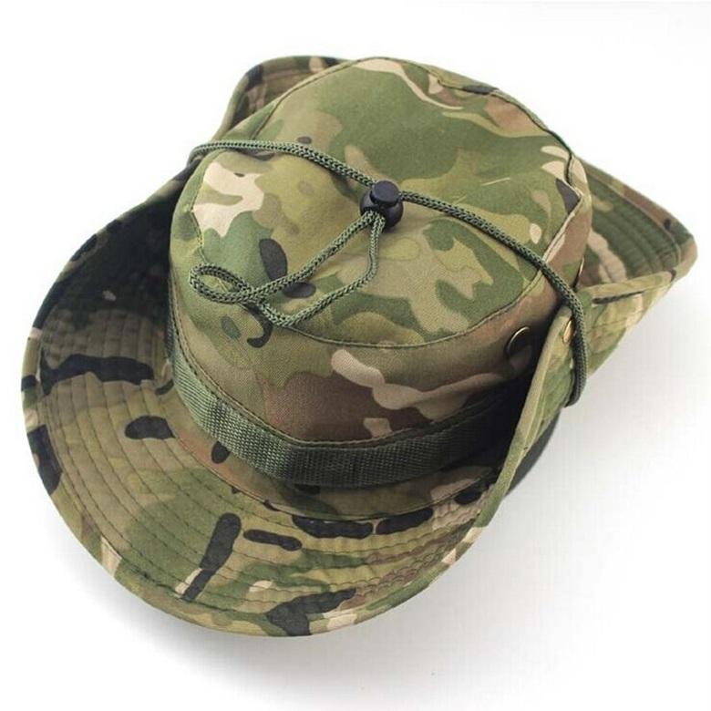 Tactical Army Military Boonie Bucket Hat Men s Jungle Bush Safari Fishing  Cap 050caa06875a
