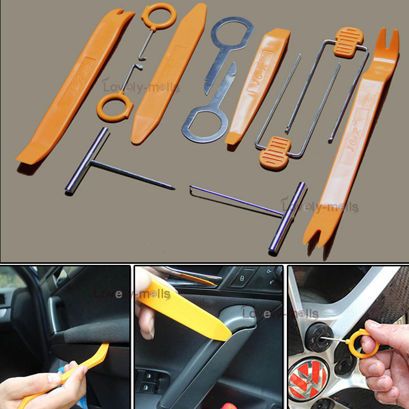 12pcs professional pry tool kit interior trim panel removal for mercedes benz ebay. Black Bedroom Furniture Sets. Home Design Ideas