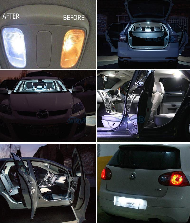6pcs deluxe white led lights interior package kit for - 2015 toyota corolla interior lights ...