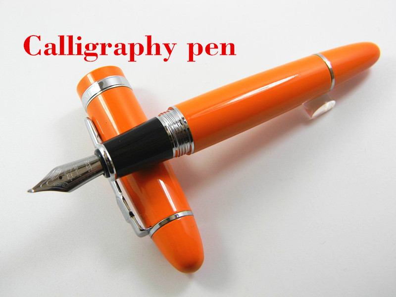 Jinhao 159 Orange Lacquered With Silver Trim Calligraphy