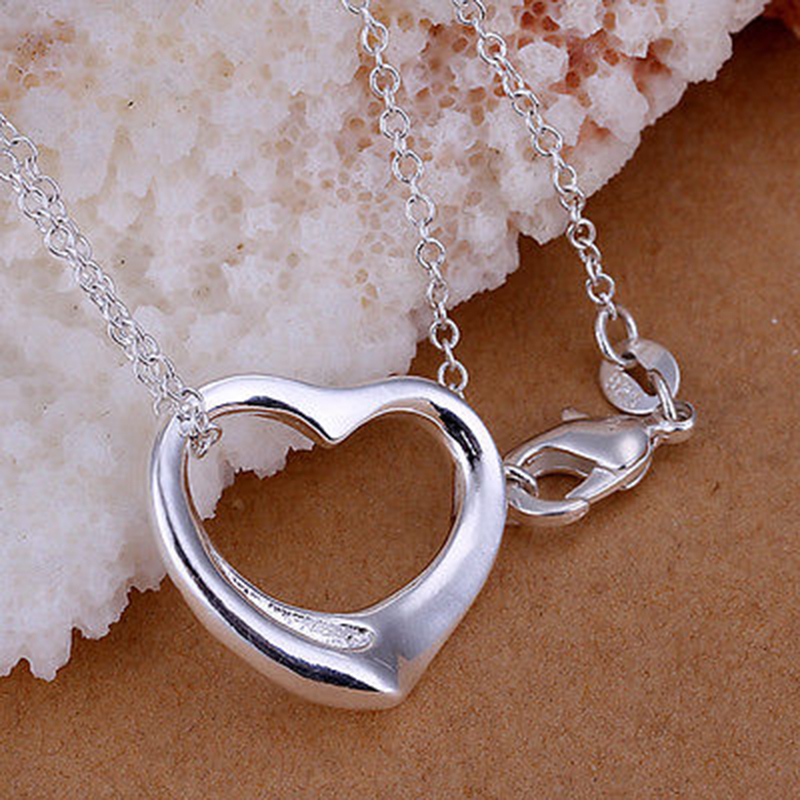 Fashion silver plated chain girl beautiful necklace with pendant fashion silver plated chain girl beautiful necklace with pendant women ebay aloadofball Image collections