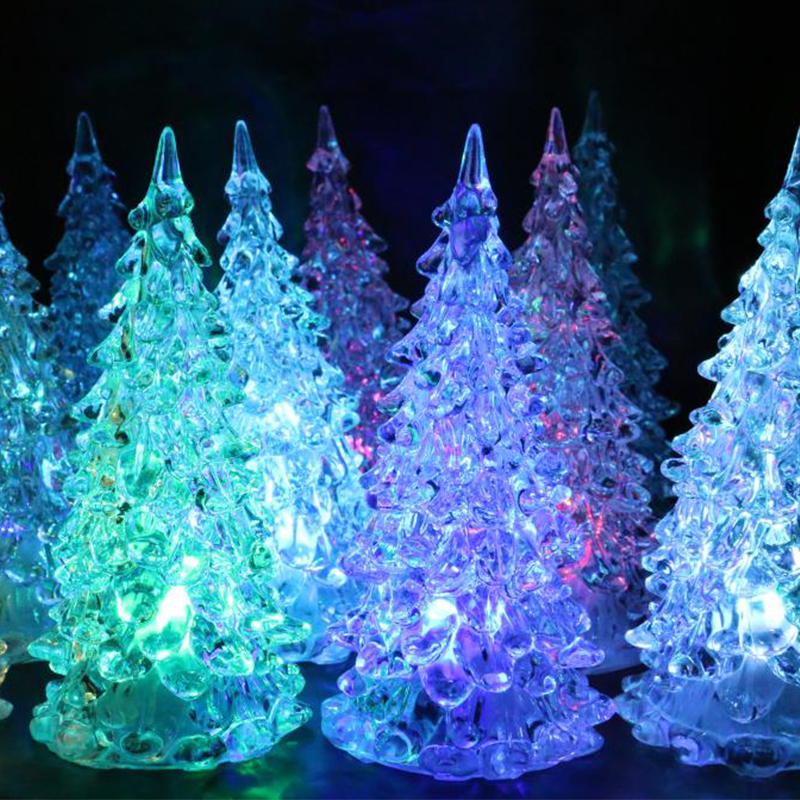 Mini Christmas Tree Night Lights Led Flashing Night Lights
